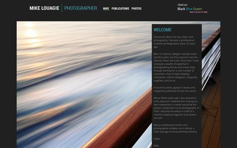 Screenshot of Home Page louagie.be - Mike Louagie | Photographer - captured Oct. 3, 2014