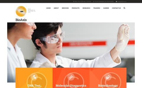 Screenshot of Home Page dnares.in - Genetic DNA Test, DNA Sequencing Services, Biotech Company in India – DNA Research Centre (P) Ltd - captured June 29, 2017
