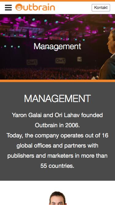 Screenshot of Team Page  outbrain.com - Treffen Sie unser Managementteam | Outbrain.com