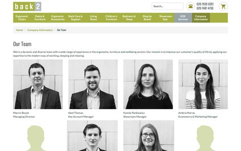 Screenshot of Team Page back2.co.uk - Our Team - captured Oct. 5, 2018
