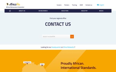 Screenshot of Contact Page africa-re.com - African Reinsurance Corporation - captured Dec. 18, 2018