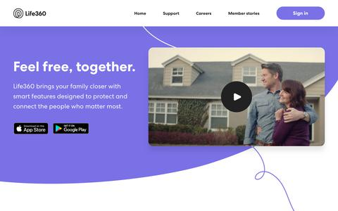 Screenshot of Home Page life360.com - Life360 – The New Family Circle - captured May 8, 2019