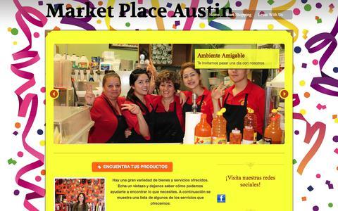 Screenshot of Home Page marketplaceaustin.com - Market Place Austin - captured Sept. 20, 2018