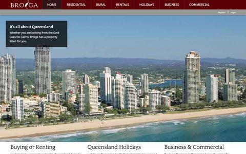 Screenshot of Home Page brolga.com.au - Brolga - Real Estate For Queensland - captured Feb. 8, 2016