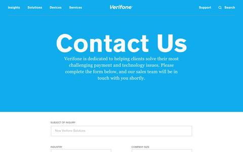 Screenshot of Contact Page verifone.com - Contact Us | Verifone.com - captured Sept. 20, 2017