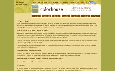 Screenshot of Privacy Page yolocolorhouse.com - Privacy Policy - captured Sept. 23, 2014