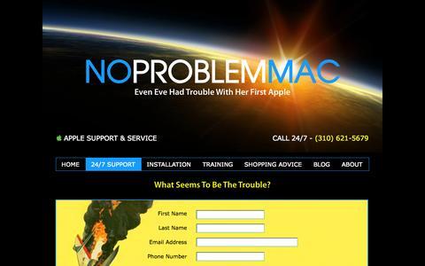 Screenshot of Contact Page noproblemmac.com - Contact Form | Apple Mac Support, Service, Repair & Training - captured Sept. 19, 2014