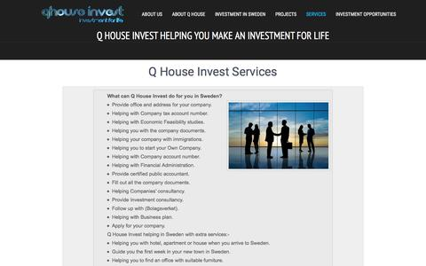 Screenshot of Services Page qhouseinvest.com - Services | Q House Invest helping you make an investment for life! - captured Dec. 5, 2015