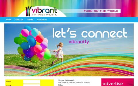 Screenshot of Contact Page vibrant.tv - Contact Us - Vibrant TV Network - captured Oct. 26, 2014