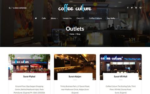 Screenshot of Locations Page coffeeculture.co.in - Locations || CC - captured May 19, 2017