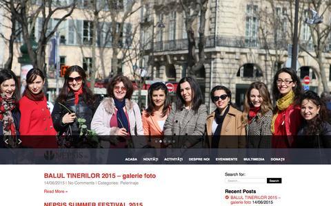 Screenshot of Home Page nepsis.org - Nepsis Franta   Fraternitatea tinerilor ortodocsi din Mitropolia Europei Occidentale si Meridionale, filiala Franta - captured Oct. 11, 2015