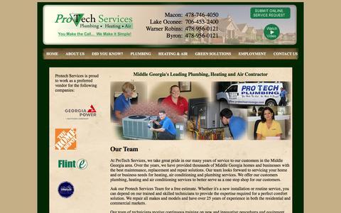 Georgia Plumbing & HVAC Contractor - ProTech Plumbing Heating Air Macon Warner Robins Lake Oconee Georgia
