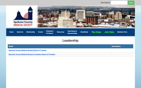 Screenshot of Team Page spcms.org - Spokane County Medical Society - captured Dec. 1, 2016