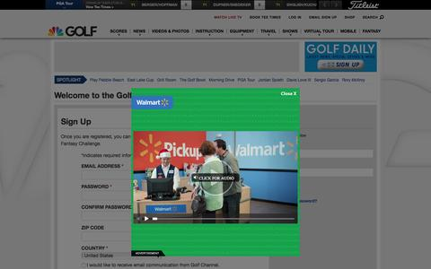 Screenshot of Login Page golfchannel.com - Welcome to the Golf Channel Family | Golf Channel - captured Dec. 10, 2015