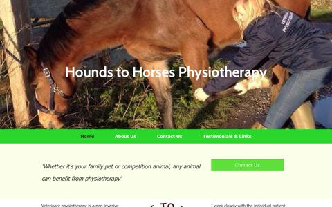 Screenshot of Home Page houndstohorsesphysio.co.uk - Hounds to Horses Physiotherapy Home - captured Nov. 14, 2016