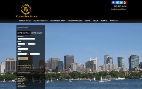 Screenshot of Home Page forbesre.com - Forbes Realty | Just another WordPress site - captured Oct. 6, 2014