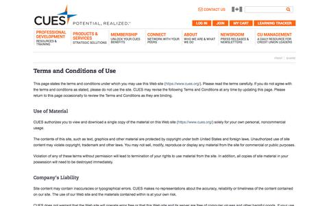 Terms & Conditions | CUES
