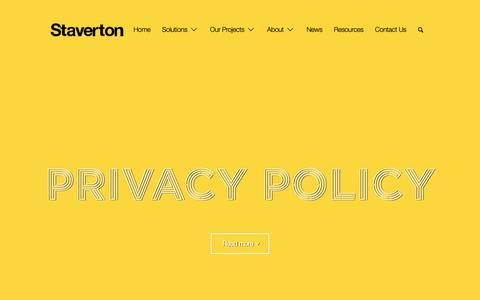 Screenshot of Privacy Page staverton.co.uk - Privacy Policy - Staverton - captured Sept. 29, 2018