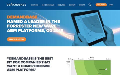 Screenshot of Case Studies Page demandbase.com - Forrester New Wave Report | Account-Based Marketing – Demandbase - captured Nov. 6, 2019