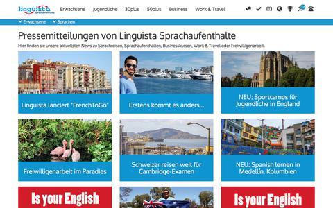 Screenshot of Press Page linguista.ch - Pressemitteilungen - captured Aug. 15, 2017