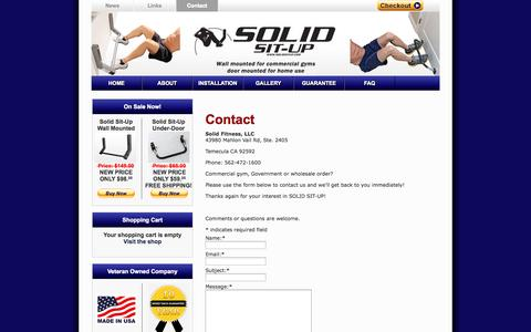 Screenshot of Contact Page solidsitup.com - Contact | Solid Situp - captured Oct. 6, 2014