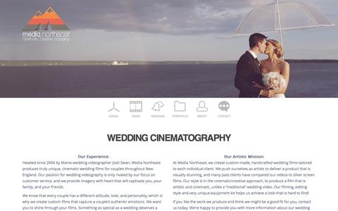 Screenshot of Pricing Page medianortheast.com - Wedding Cinematography | ME, NH, MA | Media Northeast - captured Oct. 27, 2014