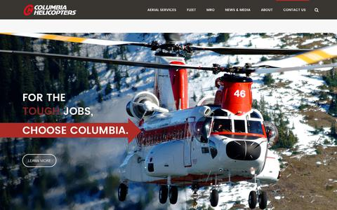 Screenshot of Home Page colheli.com - Best Heavy Lift Helicopters for Any Job | Construction, Logging, Firefighting | Maintenance and Parts | Columbia Helicopters - captured Aug. 16, 2017