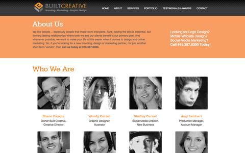 Screenshot of About Page builtcreative.com - Built Creative- About Us - captured Sept. 30, 2014