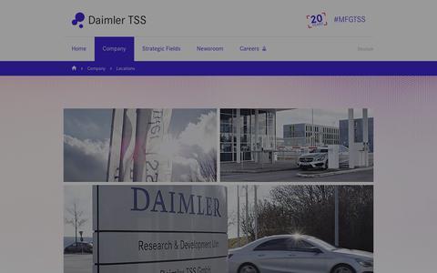 Screenshot of Locations Page daimler-tss.com - Daimler TSS locations - captured July 6, 2018