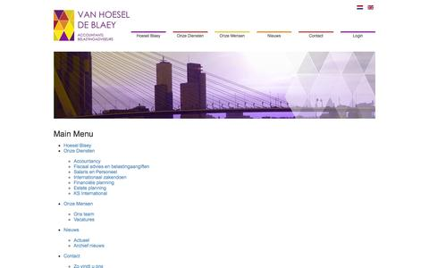 Screenshot of Site Map Page hoesel.nl - Sitemap - captured Oct. 1, 2014