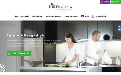 Screenshot of Signup Page riterate.ca - Sign up with riterate.ca - captured Sept. 21, 2018