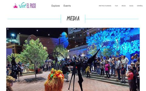 Screenshot of Press Page visitelpaso.com - Media - Destination El Paso | El Paso, Texas - captured Sept. 22, 2018