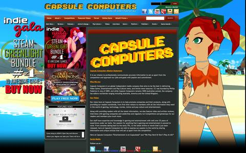 Screenshot of About Page capsulecomputers.com.au - About | Capsule Computers - Gaming & Entertainment News, Reviews, Interviews & Competitions - captured Sept. 23, 2014