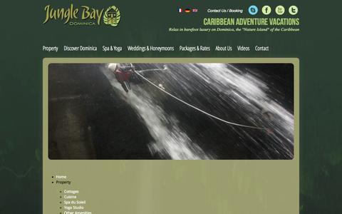 Screenshot of Site Map Page junglebaydominica.com - English - captured Nov. 3, 2014