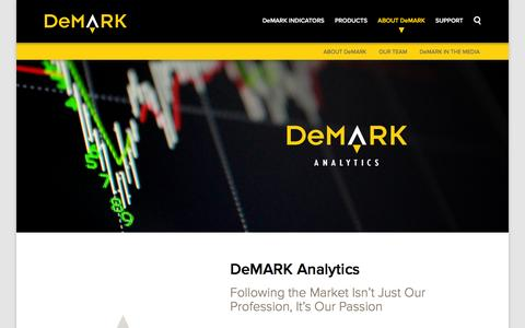 Screenshot of Team Page demark.com - DeMARK Analytics   DeMark Analytics - captured Feb. 8, 2016
