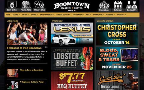 Screenshot of Blog boomtownreno.com - Boomtown Blog - Boomtown Casino Hotel - captured Oct. 10, 2017