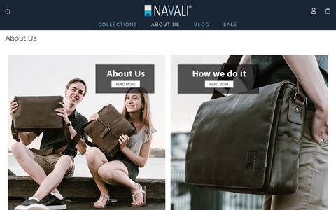 Screenshot of About Page navali.co.nz - About Navali – The Leather & Canvas Messenger Bags Online Store - captured Sept. 21, 2018