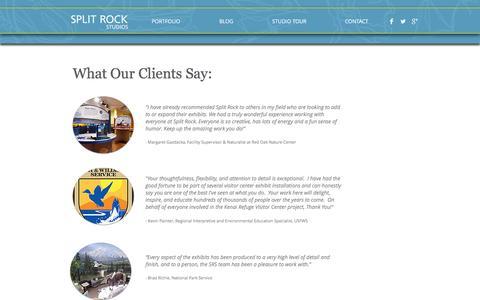 Screenshot of Testimonials Page splitrockstudios.com - split-rock-studios   Testimonials - captured Dec. 1, 2016