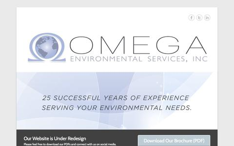 Screenshot of Menu Page omega-environmental.net - Omega Environmental Services, Inc. - captured Nov. 5, 2014
