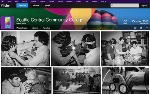 Screenshot of Flickr Page flickr.com - Flickr: SeattleCentral's Photostream - captured Oct. 26, 2014