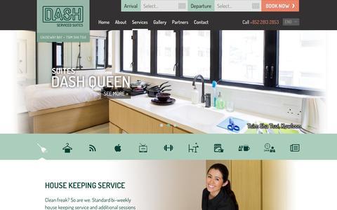 Screenshot of Services Page dashsuites.com - Services - Dash Serviced Suites - captured Feb. 8, 2016