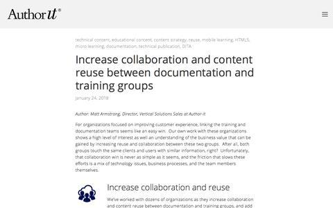 Screenshot of Blog author-it.com - Author-it Blog — Author-It - captured Sept. 22, 2018