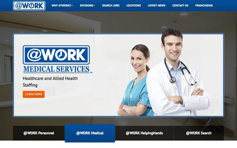 Screenshot of Home Page atwork.com - Home - captured Nov. 6, 2015