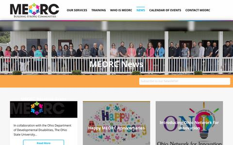 Screenshot of Press Page meorc.com - MEORC News | Mid-East Ohio Regional Council - captured Sept. 24, 2018