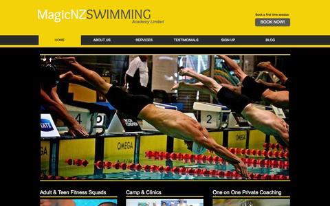 Screenshot of Home Page magicnz.com - magicnz.com - captured Oct. 4, 2014