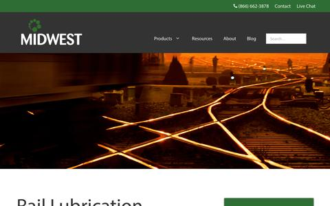 Screenshot of midwestind.com - Rail Lubrication - Midwest Industrial Supply - captured Oct. 27, 2016