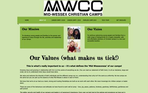 Screenshot of About Page mwcc.org.uk - About Us  Mid Wessex Christian camps - captured Oct. 18, 2018