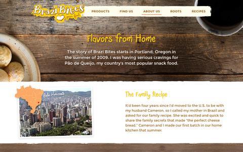 Screenshot of About Page brazibites.com - About Us – Brazi Bites - captured Feb. 8, 2016