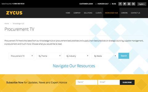 Procurement TV - Zycus