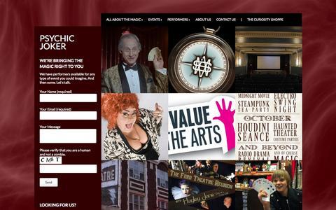 Screenshot of Press Page psychicjoker.com - News | Psychic Joker - captured Sept. 30, 2014